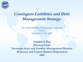 Contingent Liabilities and Debt Management Strategy