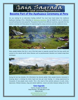 Become Part of the Ayahuasca Ceremony at Peru