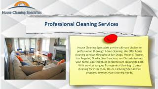 Cleaning Service San Diego