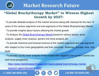 Global Brachytherapy Market Research Report- Forecast to 2027