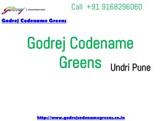 Godrej New Project Undri Pune - Godrej Codename Greens