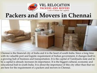 Packers and Movers in chennai | Relocation services in chennai