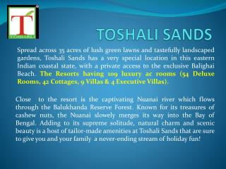 HOTEL IN PURI - TOSHALI SANDS RESORT