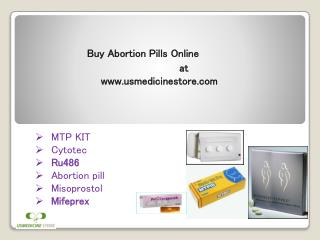 Buy Abortion Pills Online To Terminate An Early Pregnancy