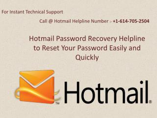 How Tp Reset Hotmail Account Password Easily