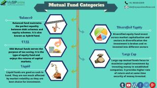 Learn About Mutual Fund Categories @ My SIP Online