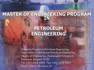MASTER OF ENGINEERING PROGRAM