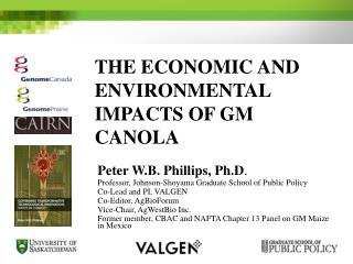 The Economic and Environmental Impacts of GM Canola