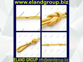 Military Twisted Rope Gold Cap Cord