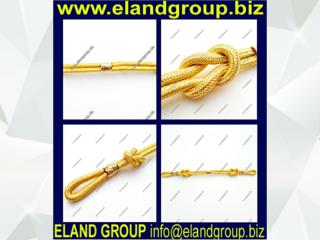 Officer Visor Gold Cap Cord