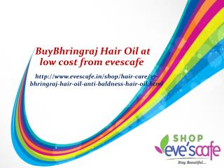 Bhringraj Hair Oil at low cost from evescafe