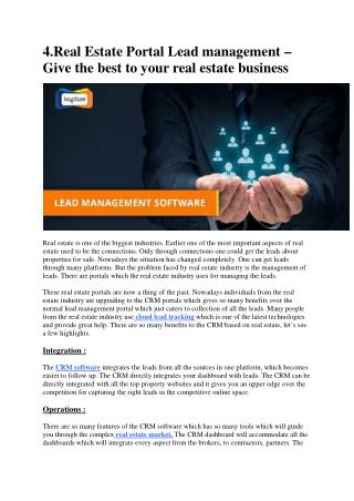Real Estate Portal Lead management – Give the best to your real estate business