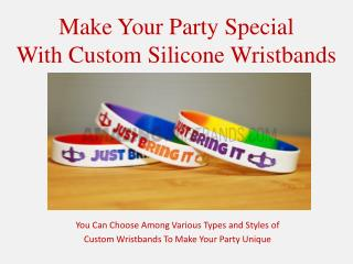 Customized Party Wristbands