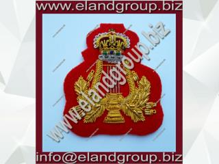 Gold Bullion Wire Embroidered Badge