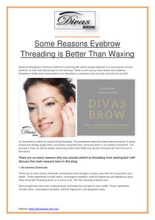 Some Reasons Eyebrow Threading is Better Than Waxing