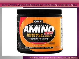 Buy sports and bodybuilding supplements online India