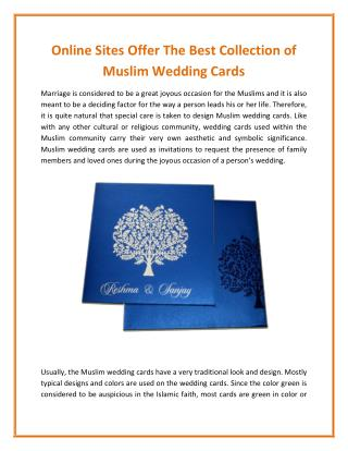Lovely Wedding Mall offer The Best Collection of Muslim Wedding Cards