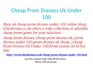 Cheap Prom Dresses Uk Under 100