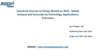 Industrial Internet of Things Market: Key Trends, Demand, Growth, Size, Review, Share, Analysis to 2025– The Insight Par