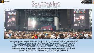 Wide range of loudspeakers #solutions ils