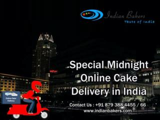 Special Midnight Online Cake Delivery in India
