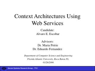 Context Architectures Using Web Services