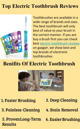 Top Electric Toothbrush Reviews