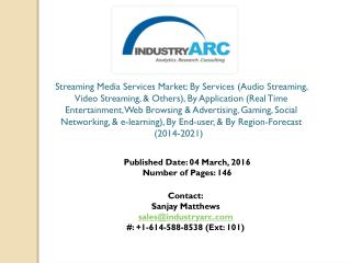 Streaming Media Services Market: movie streaming services to witness high demand globally