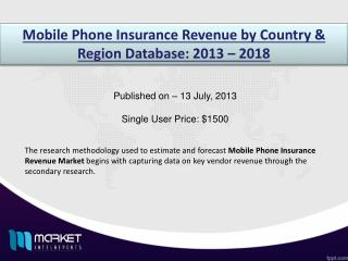 Key statistics on the market status of the Mobile Phone Insurance Market 2018