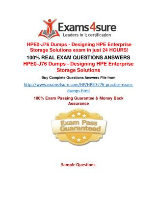 HPE0-J76 Questions Answers