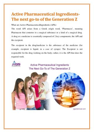 The Role of Active Pharmaceutical Ingredient Manufacturers in India