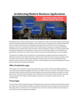 Architecting Modern Business Applications