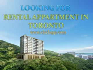 looking for rental apartment in Toronto