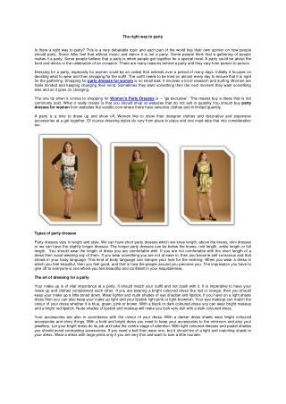 Shop Women's Party Dresses