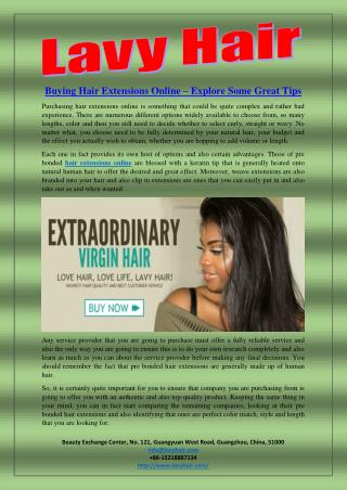 Buying Hair Extensions Online – Explore Some Great Tips
