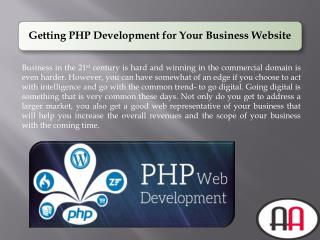 Getting PHP Development for Your Business Website