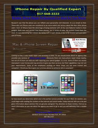 Reliable IPhone Repair Professionals Is a Must for Your Phone