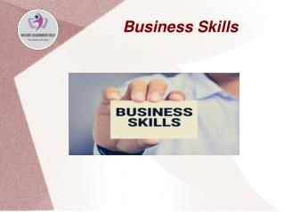 Sample PPT on Business skills