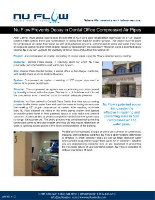 Carmel Plaza Dental Office: Compressed Air System Rehabilitation