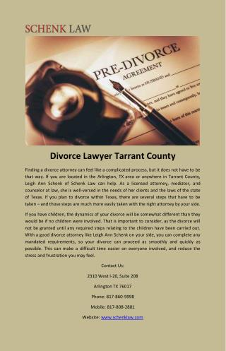 Divorce Lawyer Tarrant County