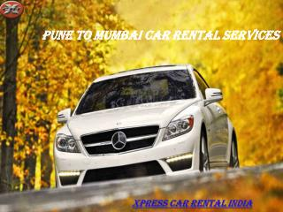 Pune to Mumbai Car Rental Services