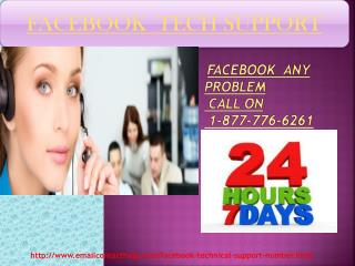 Facebook Tech Support 1-877-776-6261 USA Canada