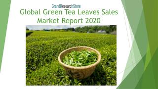 Global Green Tea Leaves Sales Market Report 2020