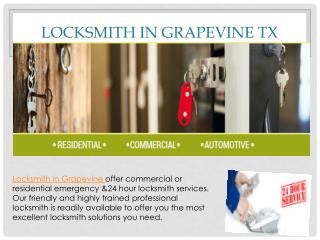 Professional locksmith services in Grapevine TX