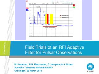Field Trials of an RFI Adaptive Filter for Pulsar Observations