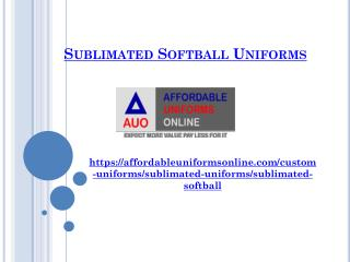 Sublimated Softball Uniforms