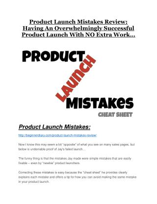 Product Launch Mistakes review and Exclusive $26,400 Bonus
