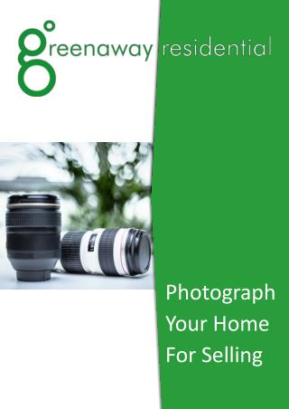 Photograph your home for selling