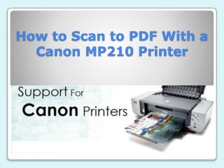 How to Scan to PDF With a Canon MP210 Printer