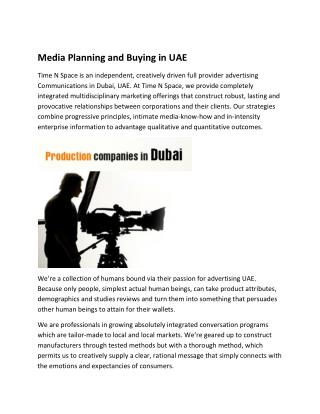 Media Planning and Buying in UAE
